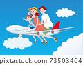 乘飛機旅行的家庭_GO TO運動 73503464