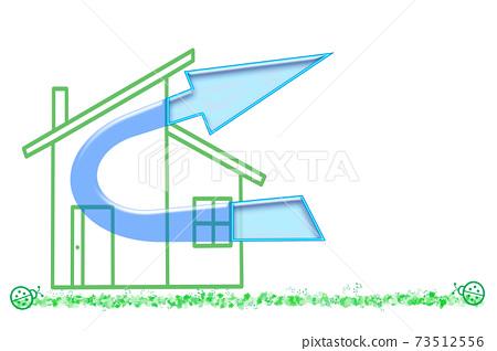 我家的通風圖像家庭感染預防措施住宅通風系統通風設備24小時通風系統 73512556