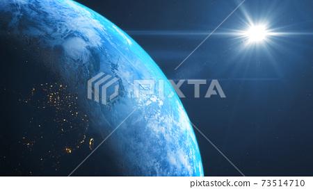 지구 태양 플레어 배경 소재 배경 우주 73514710