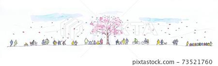 벚꽃과 사람들의 개관 73521760