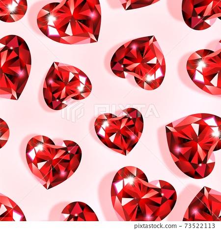 Pattern ruby heart 73522113