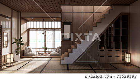 staircase room Designing the most beautiful. 3D rendering 73529395
