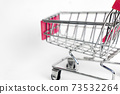 Shopping cart isolated on white background. Business concept. 73532264