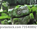 苔蘚覆蓋的吳哥石佛2 73540892