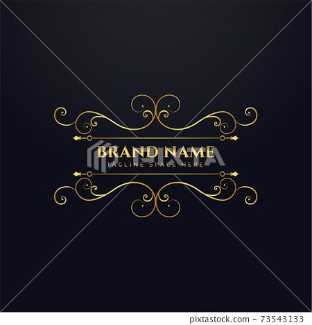 luxury brand royal logo concept background design 73543133