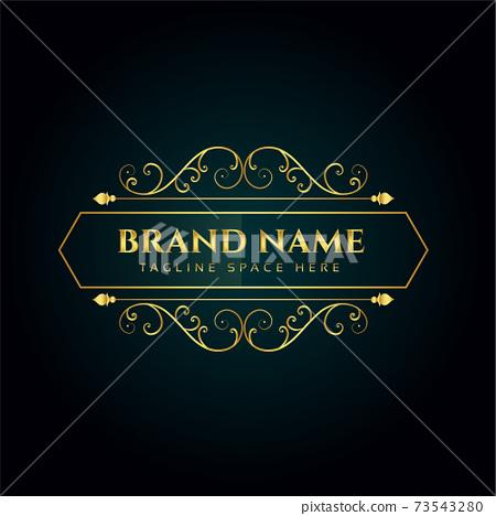 elegant ornamental logo concept design template 73543280