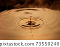Ripples of water drops brown coffee 73550240