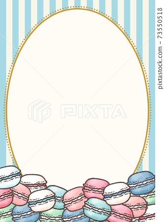 條紋和蛋白杏仁餅乾框架 73550518