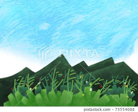 山自然背景的概念形象 73554088