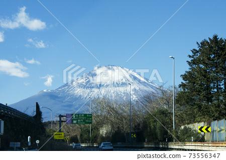 고속도로 (하행)에서 보이는 후지산 73556347