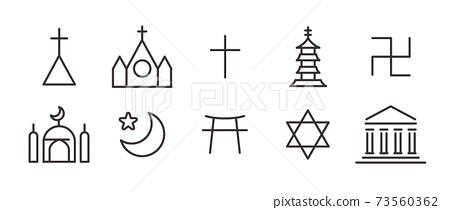 10圖標集(宗教符號) 73560362