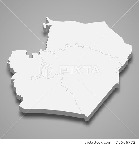 3d isometric map of Raqqa is a province of Syria 73566772