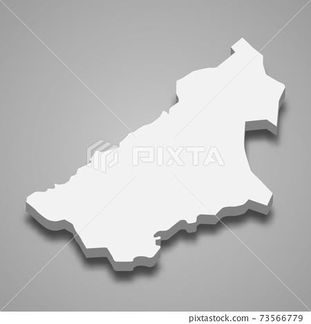 3d isometric map of Qasim is a Region of Saudi Arabia 73566779