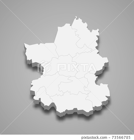 3d isometric map of Paijanne Tavastia is a region of Finland 73566785