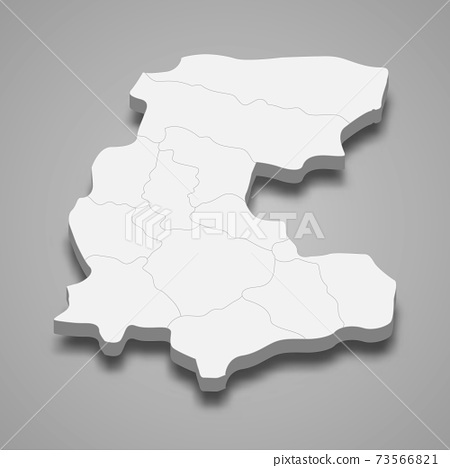 3d isometric map of Markazi is a province of Iran 73566821