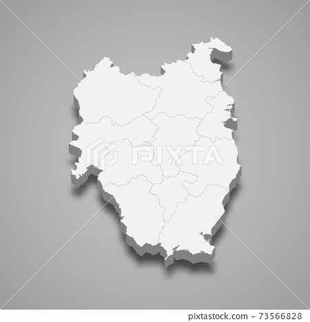 3d isometric map of Leinster is a province of Ireland 73566828