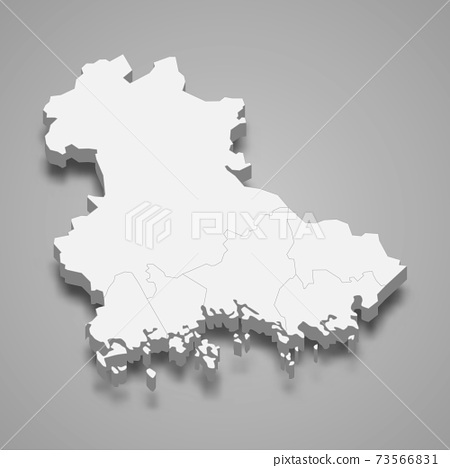 3d isometric map of Kymenlaakso is a region of Finland 73566831