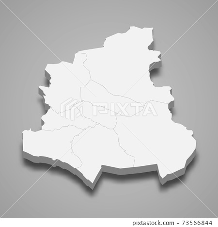 3d isometric map of Kainuu is a region of Finland 73566844