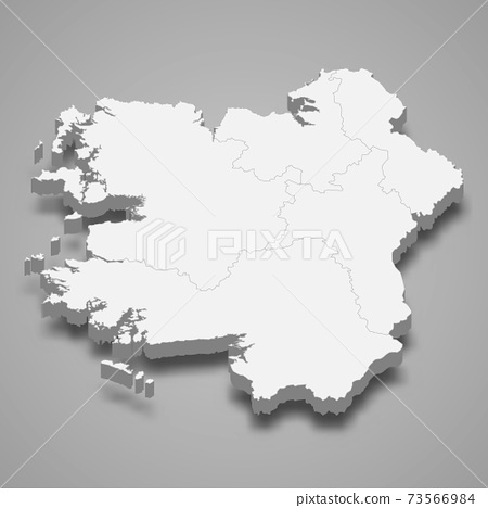 3d isometric map of Connacht is a province of Ireland 73566984