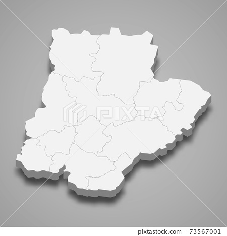 3d isometric map of Braganca is a district of Portugal 73567001