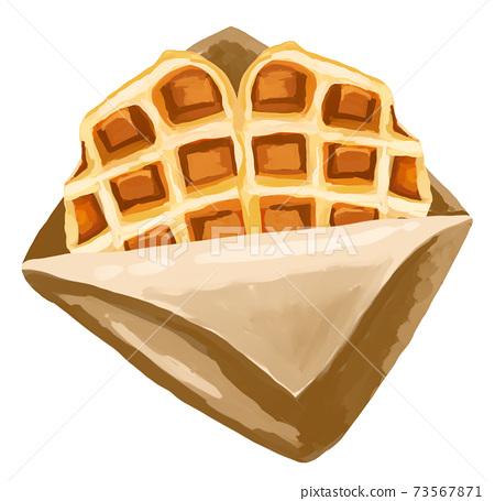 新潮潮流美食家crofle羊角麵包華夫格手持吃飯走路韓國糖果 73567871