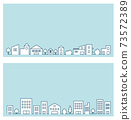 Cityscape winter_line art blue back 73572389