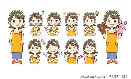 女初中幼兒園老師總結 73574435