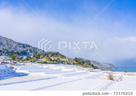 교토, 계단식 논, 겨울 73576819