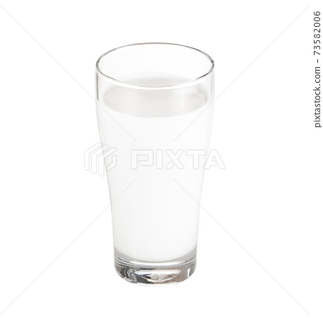 glass of milk isolated on white. 73582006