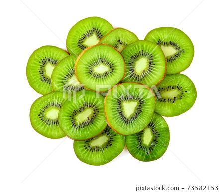 kiwi isolated on white. Top view 73582153
