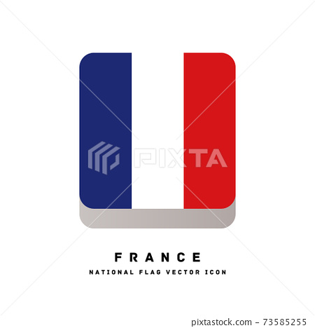 方形圖標樣式的標誌[法國] 73585255