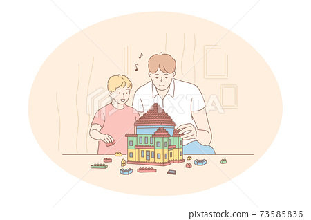 Father, Fathers day, activities with children concept 73585836