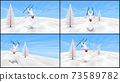 雪人男子跳上滑雪板4件套,長寬比為16:9 73589782
