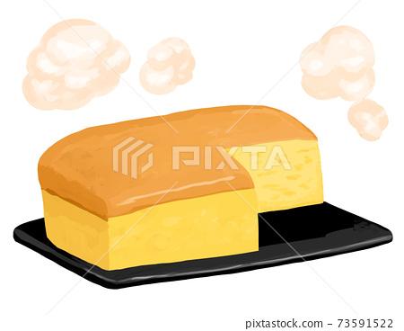 台灣castella新鮮出爐的鐵板蒸汽切新潮美食 73591522