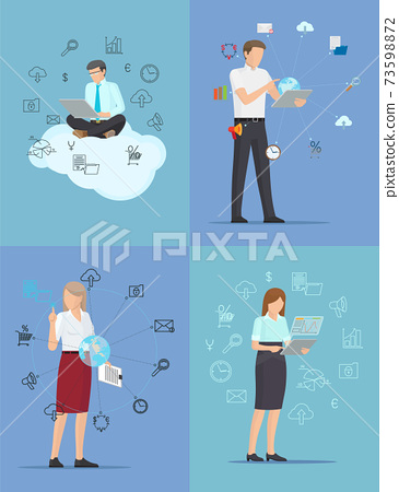 Set of Color Business Banners Vector Illustration 73598872