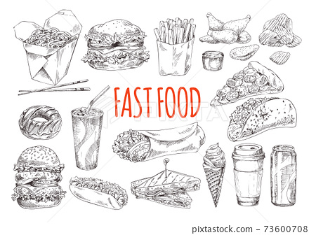Tasty Fast Food Promotional Monochrome Poster 73600708