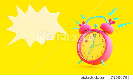 Pink alarm clock. 73600793