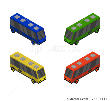 city bus isometric 73604115