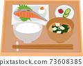 烤三文魚套餐看起來很美味 73608385