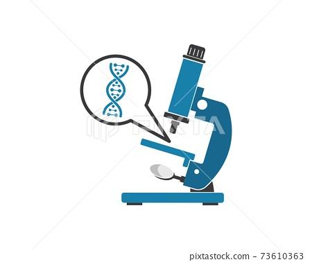 microscope logo icon vector illustration design 73610363