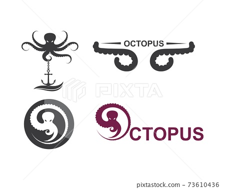 octopus icon logo vector illustration design 73610436