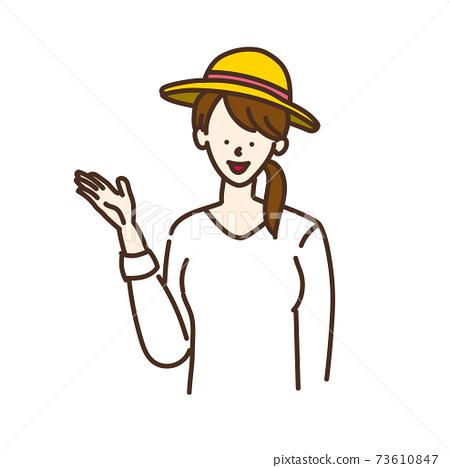 簡單的女性插畫姿勢變化 73610847