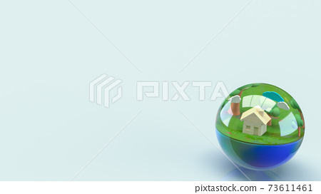 The earth in water drop for world water day or ecology concept 3d rendering. 73611461