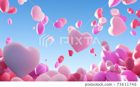 A bunch of love balloons. 73611748