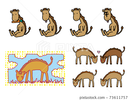 松馬的可愛簡單圖解 73611757