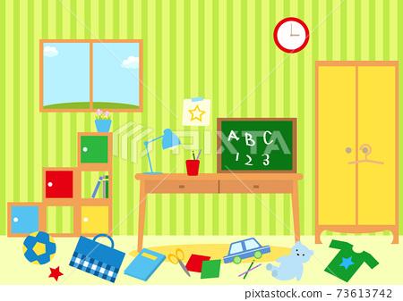 收拾凌亂的兒童房 73613742