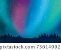 Aurora landscape watercolor 73614092
