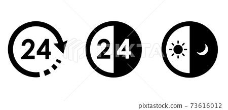 24 시간 아이콘 변형 세트 73616012