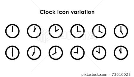시계 아이콘 24 시간 세트 73616022