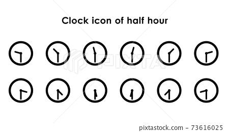 시계 아이콘 30 분의 변형 세트 73616025